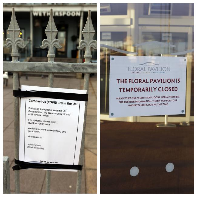Pictures show venue closures as part of Government measures to tackle Coronavirus