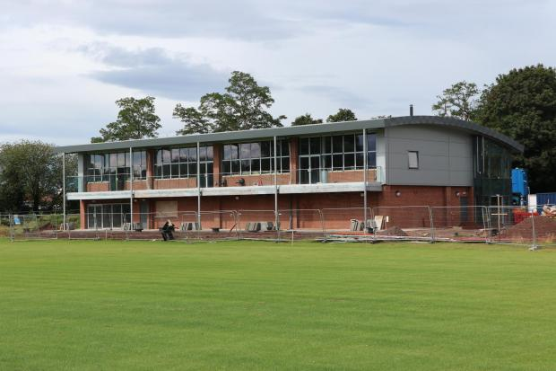 The new modern clubhouse at Anselmians Rugby Club is taking shape. Photo: Richard Garnett