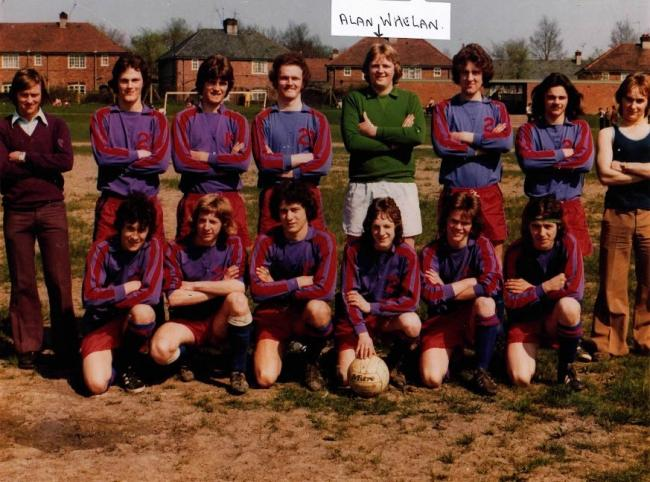 Amateur goalkeeper Alan Whelan (back row, fourth from right) has sadly passed away