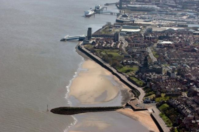 An aerial view of Seacombe, where residents have complained about postal delays