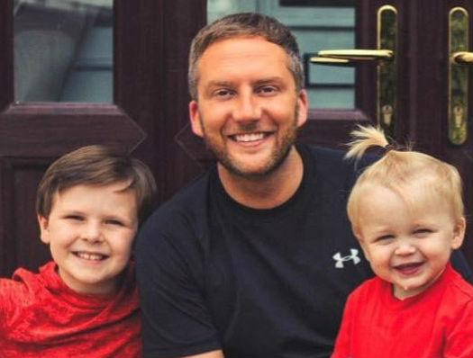 Richie Dean, pictured with sons Mason and Roman, has used lockdown as the perfect opportunity to launch debut children's book